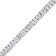 Round Brilliant Diamond Mesh Bracelet