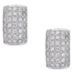Round Brilliant Diamond Pave Earrings