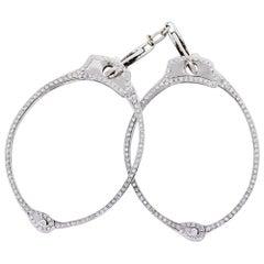 Round Brilliant Diamond Pave Handcuffs