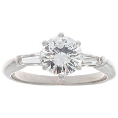 Round Brilliant Diamond Platinum Engagement Ring