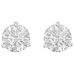 Round Brilliant Diamond Stud Earrings '1.00 Carat'