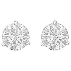 Round Brilliant Diamond Stud Earrings '1.42 Carat'