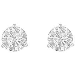 Round Brilliant Diamond Stud Earrings '2.01 Carat'