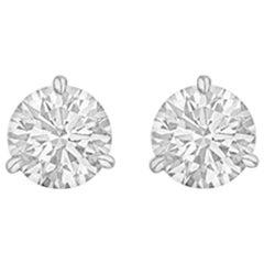 Round Brilliant Diamond Stud Earrings '2.02 Carat'