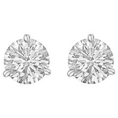 Round Brilliant Diamond Stud Earrings '2.03 Carat'