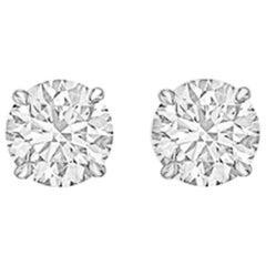Round Brilliant Diamond Stud Earrings '2.25 Carat'