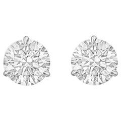 Round Brilliant Diamond Stud Earrings '2.35 Carat'