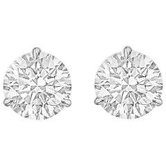 Round Brilliant Diamond Stud Earrings '2.40 Carat'