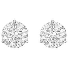 Round Brilliant Diamond Stud Earrings '3.04 Carat'