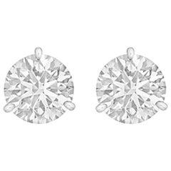 Round Brilliant Diamond Stud Earrings '4.02 Carat'
