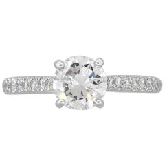 Round Brilliant GIA Diamond Engagement Ring