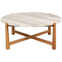Round Bronson Coffee Table by Lawson-Fenning