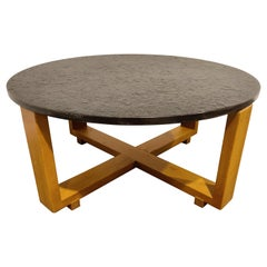 Round Brutalist Coffee Table, 1960s