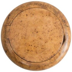 Round Burl Birch Snuff Box, Early 20th Century