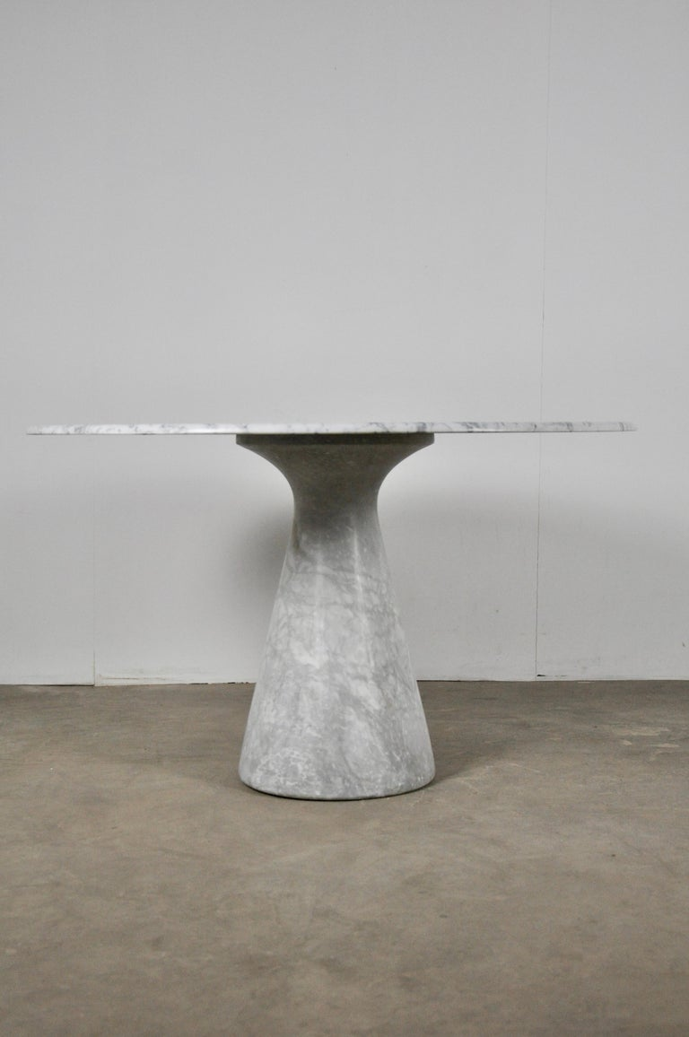 Italian Carrara marble table.