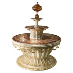 Round Ceremonial Table with Lifting Mechanism by Modenese Gastone