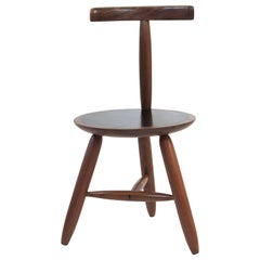 Round Chair with Exquisite Joinery in Walnut by Birnam Wood Studio