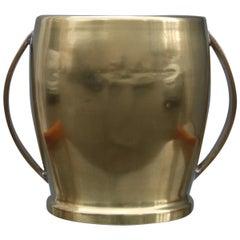 Round Champagne Bucket Italian Design Brass Gold, Midcentury