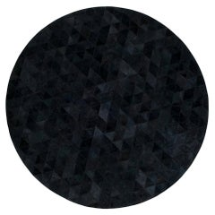 Round Charcoal Customizable Trilogia Cowhide Area Rug X-Large
