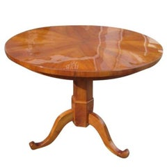Round Cherrywood Table from the Biedermeier Era