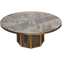 Round Chinoiserie Coffee Table by Philip and Kelvin LaVerne