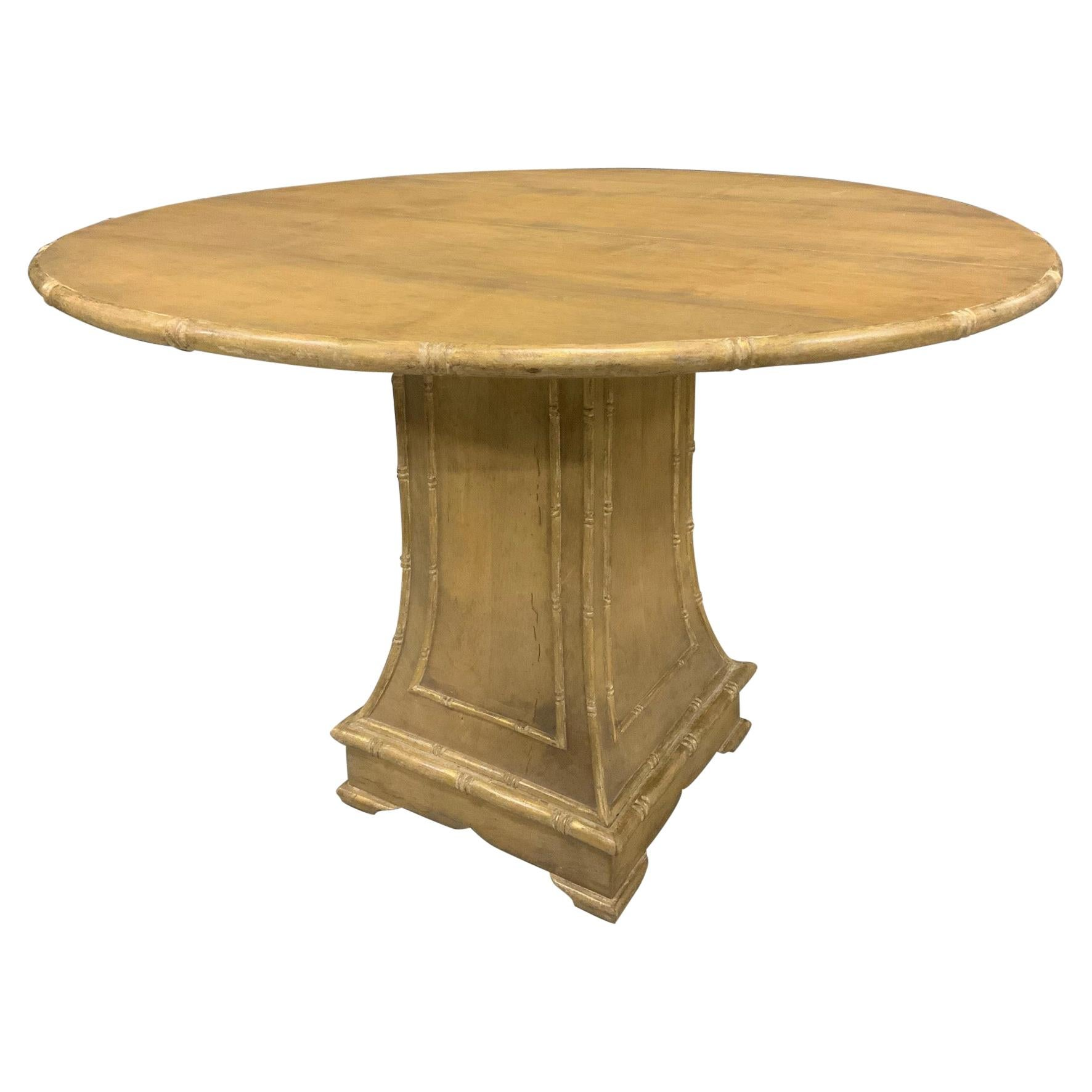 Round Chippendale Style Pedestal Dining Table