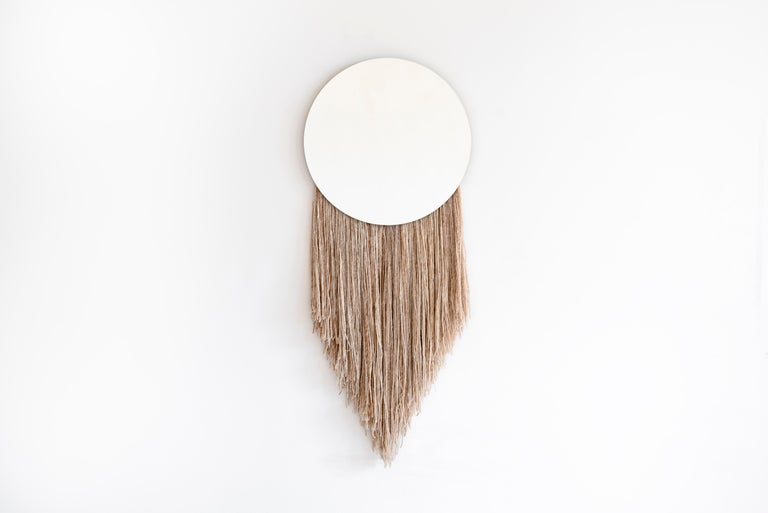 American Round Clear Mirror with Fiber - Contemporary Eos Mirror by Ben & Aja Blanc For Sale