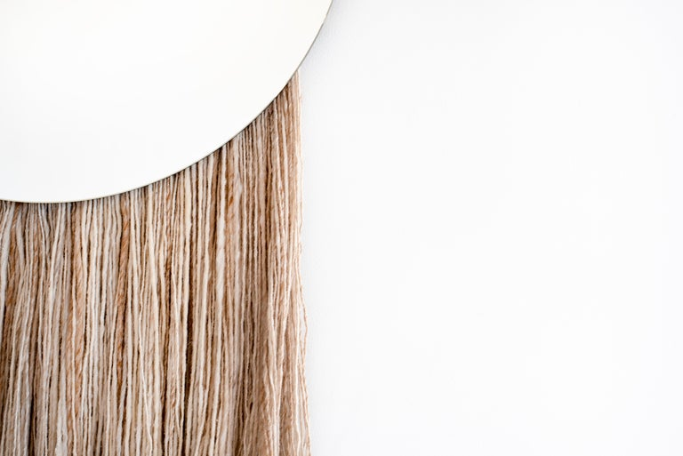 Round Clear Mirror with Fiber - Contemporary Eos Mirror by Ben & Aja Blanc For Sale 2