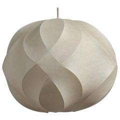 Round Cocoon Italian Design Ceiling Lamp 1960 Italian Design Castiglioni Style