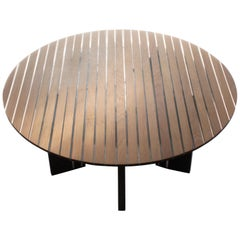 Round Coffee Table Ebonised Oak, Clear Resin by Jonathan Field