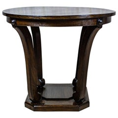 Round Coffee Table from the Interwar Period