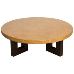 Round Coffee Table with Cork Top by Paul Frankl