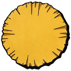Round Colorful Crumpled Rug from Graffiti Collection by Paulo Kobylka, Small