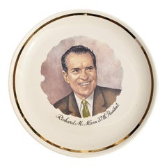 Round Commemorative Plate of President Nixon 37th President