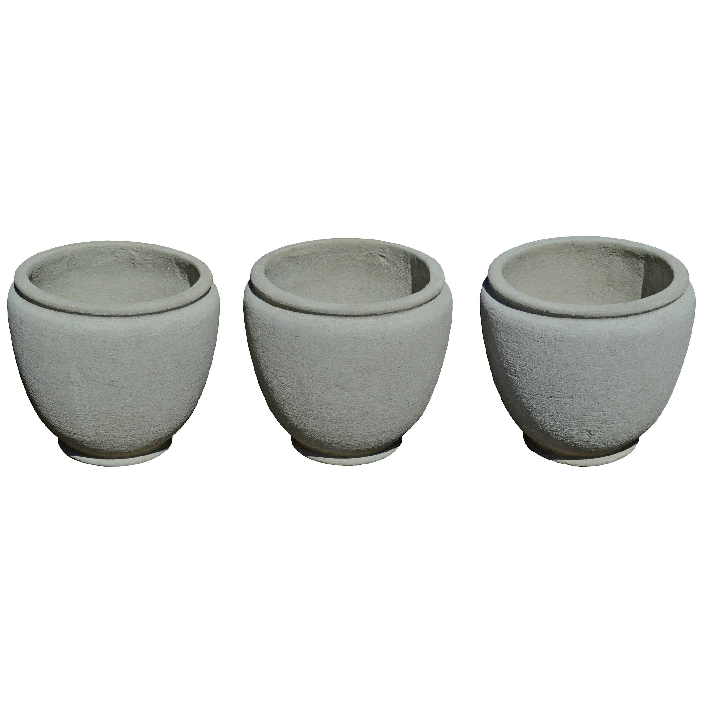 Round Concrete Urn Planters