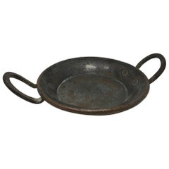 Round Copper Pot with Handles