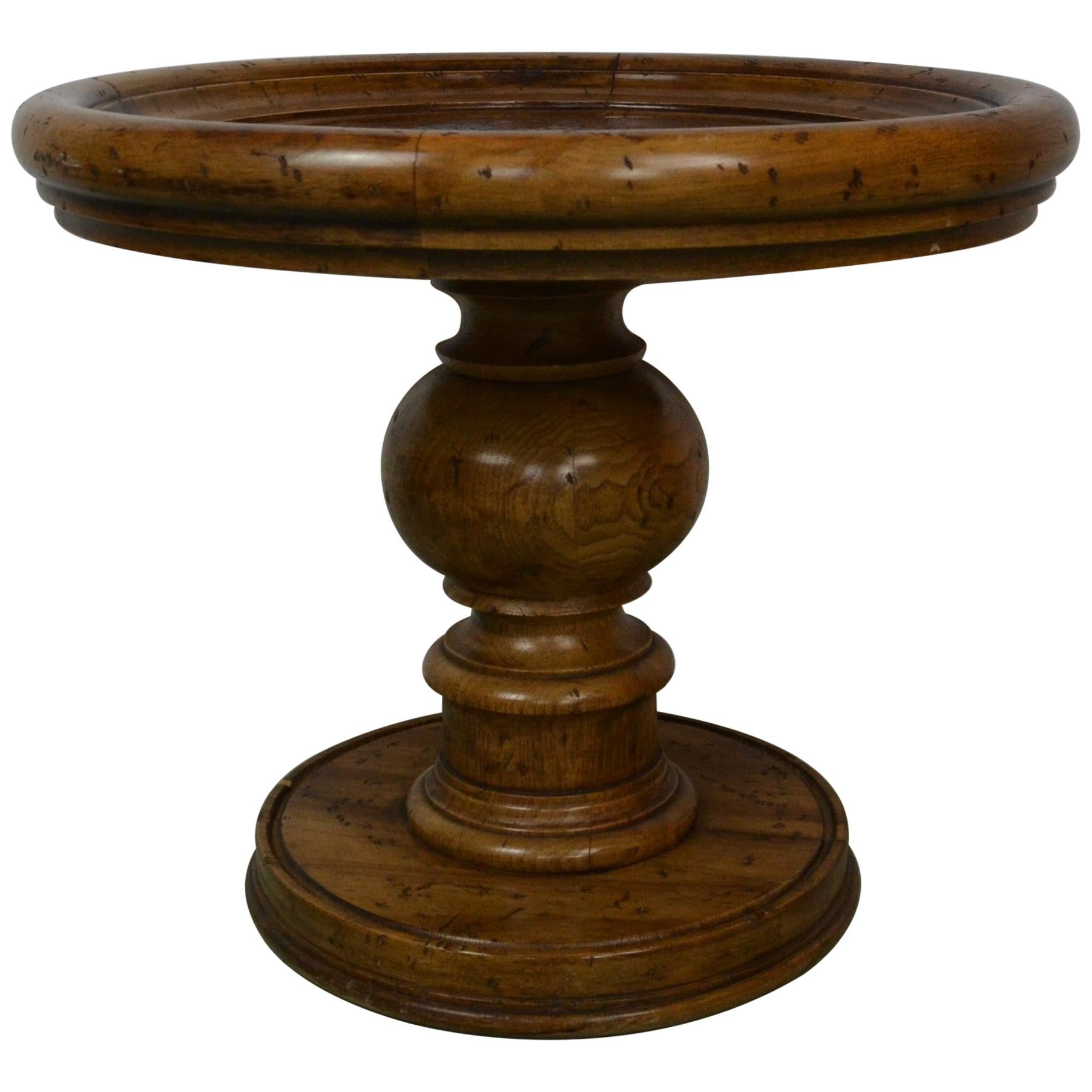 Round Copper Topped End /Side Table