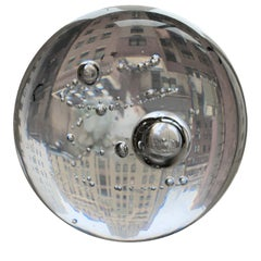 Round Crystal Globe Paperweight