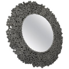 Round Curly Silver Mirror from Bicycle Chain