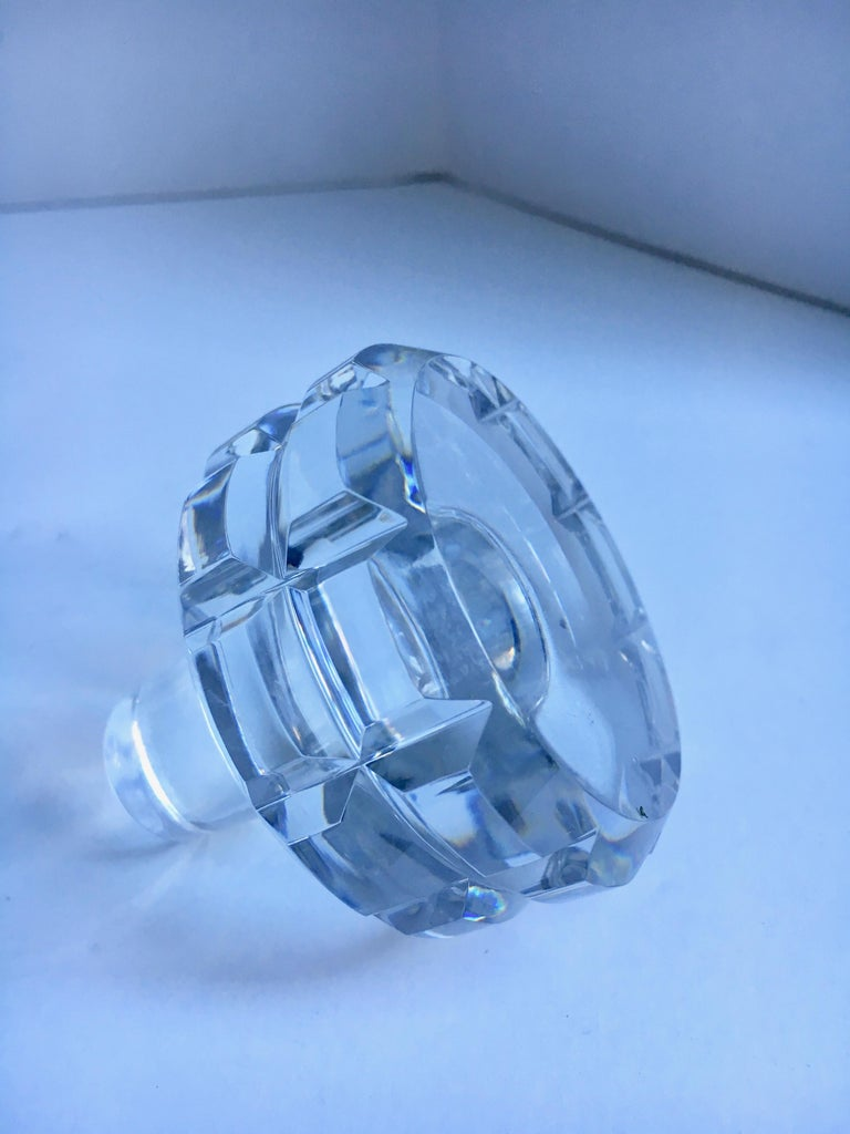 20th Century Round Cut Crystal Decanter For Sale