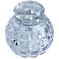 Round Cut Crystal Decanter