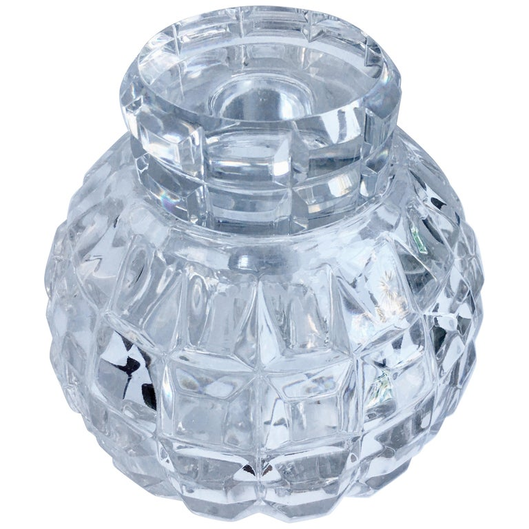 Round Cut Crystal Decanter For Sale