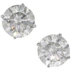 Round Cut Diamond Earring Studs