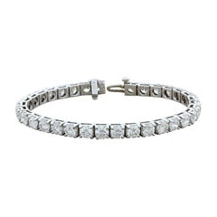 Round Cut Diamond Gold Tennis Bracelet