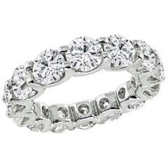 Round Cut Diamond Platinum Eternity Wedding Band