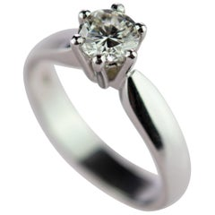 Round Diamond 18 Karat Gold Engagement Solitaire Wedding AIG Certified Ring