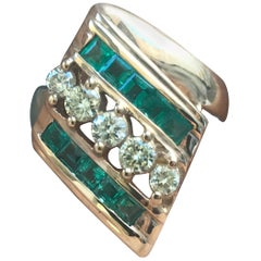 Round Diamond and Princess Emerald Cuts Ring, Ben Dannie
