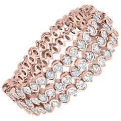 Round Diamond Band Ring in 18 Karat Rose Gold