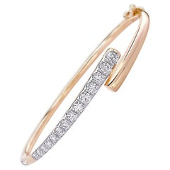 Round Diamond Bracelet 1.37 Carat 18 Karat Yellow Gold IGI Certified