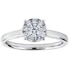Roman Malakov, Round Diamond Cluster Engagement Ring in White Gold